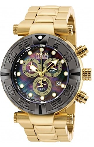 New Mens Invicta 90240 Reserve Subaqua Noma Swiss Chronograph Gold Tone Watch