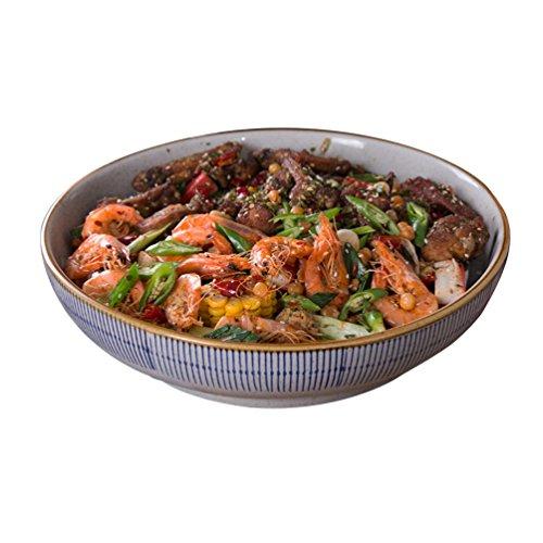 Fish Faceplate - Large Size Ceramics Soup Pot, Large Soup Bowl Hotel Tableware Home Noodle Bowl Face Plate Fish Bowl Sink Basin 23cm-30.5cm (Size : 30.57.7cm)