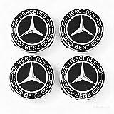 Mercedes Benz Wheel Center Caps - Set of 4 - New - Black - 75mm /3 Inch - MB Wheels Center Cap - Mercedes Benz Wheel Caps – Mercedes Center Caps - Mercedes Wheel Caps - Mercedes Benz Center Wheel Caps