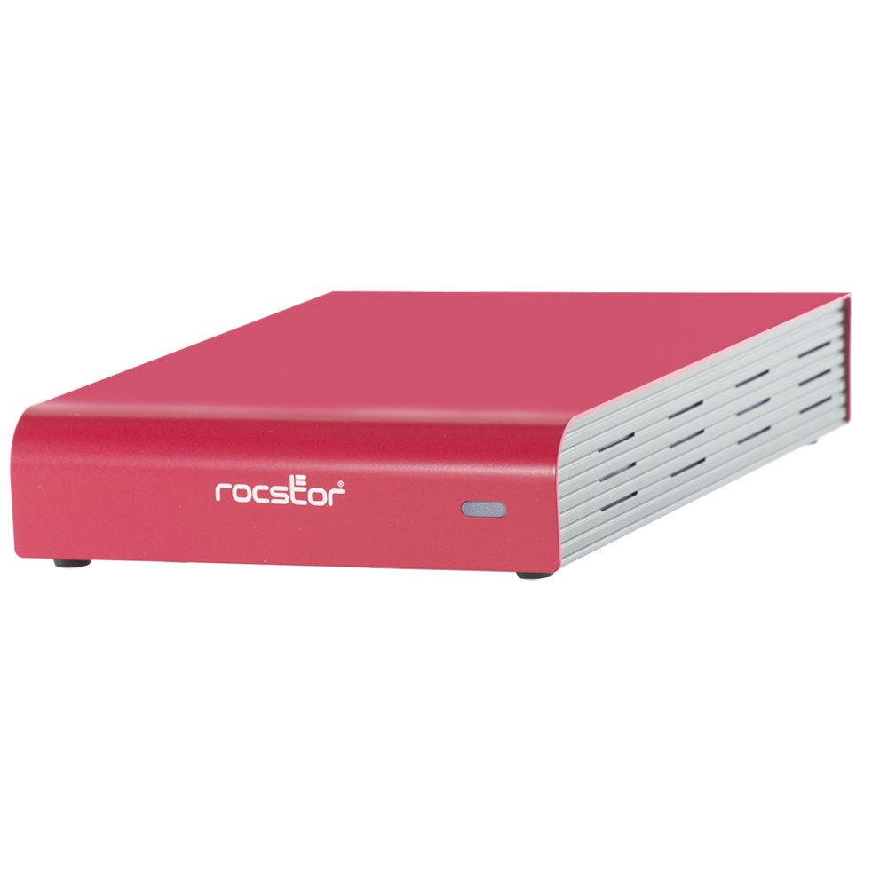 Rocstor 900E 3TB 7200RPM external Desktop, Built-In Power Supply, Red Cover (G269N2-R1)