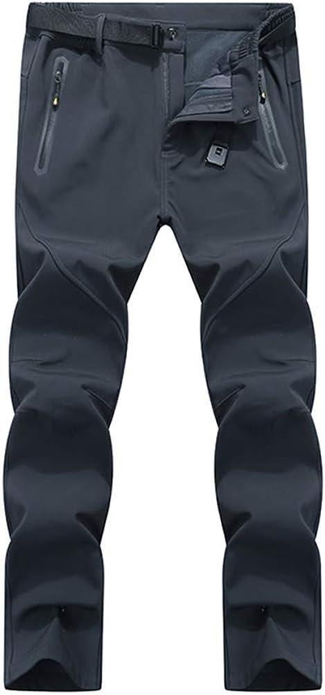 LABEYZON Men's Outdoor Hiking Pants Athletic Softshell Fleece Lined Cargo Snow Ski Pants