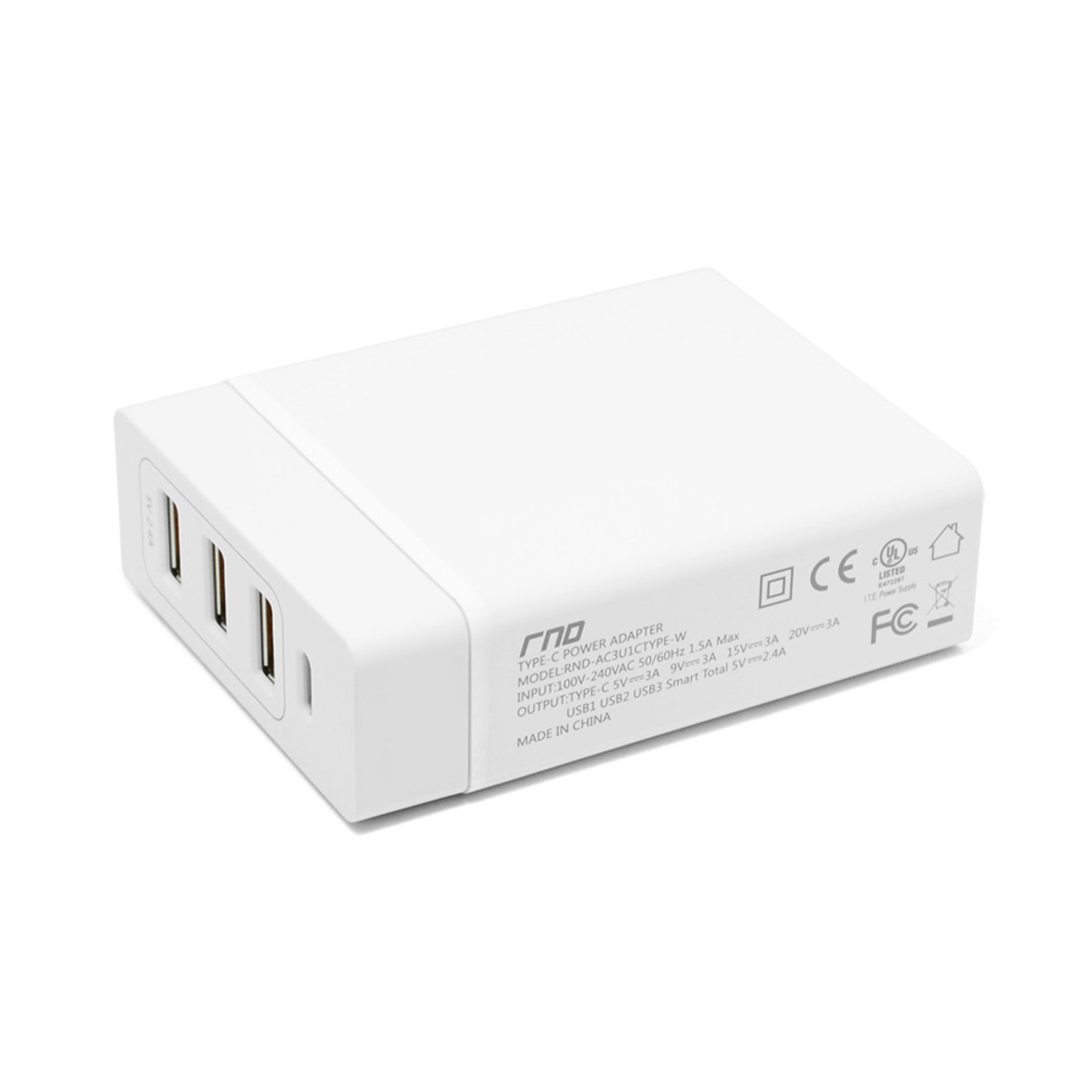 Amazon.com: RND 72 W Smart Power Estación de carga 1 Type-C ...