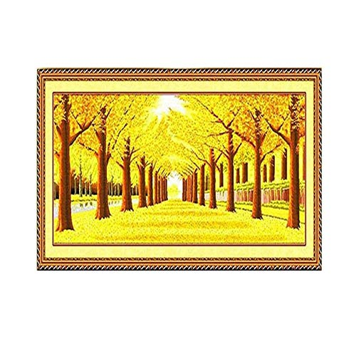 Zamtac Full Drill Square Diamond 5D DIY Diamond Painting''Golden Scenery''Diamond Embroidery Cross Stitch Rhinestone Mosaic Painting - (Color: A, Size: 190X75)