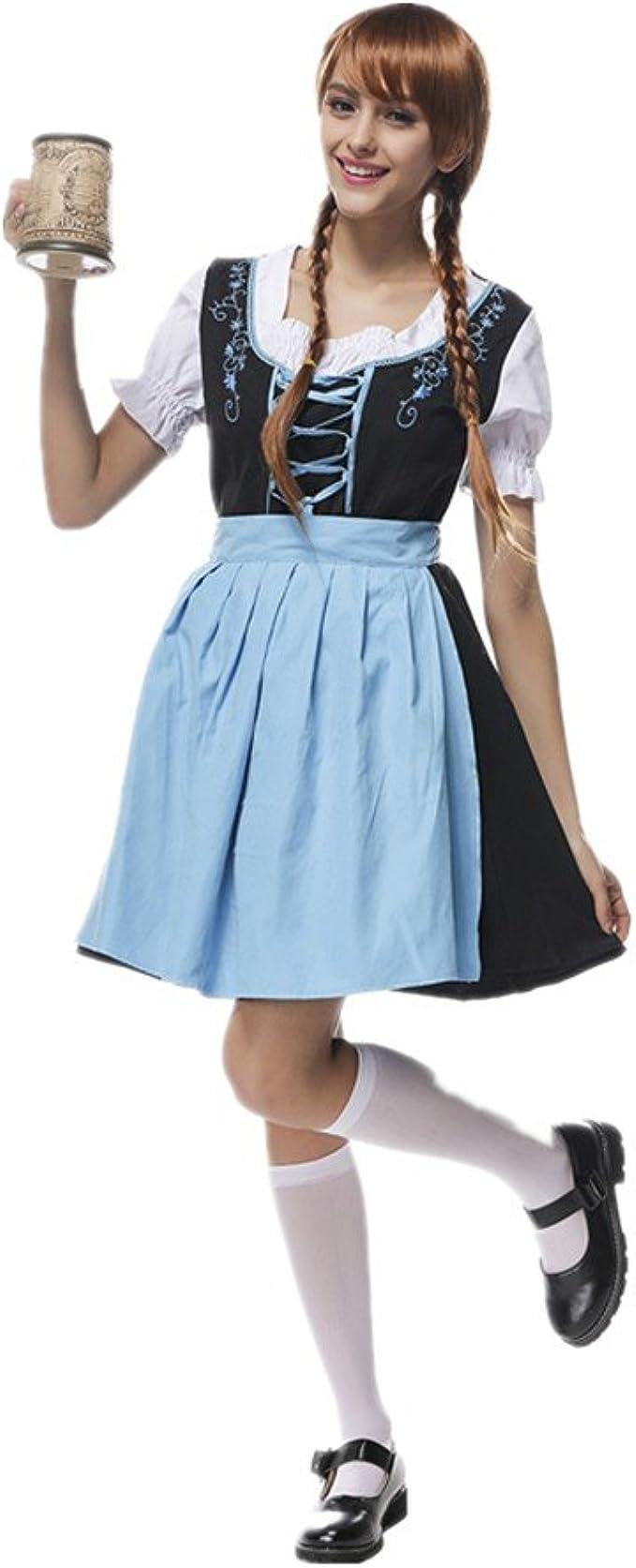 Disfraz bavara para Mujer Chica Uniforme Vestido de Oktoberfest ...