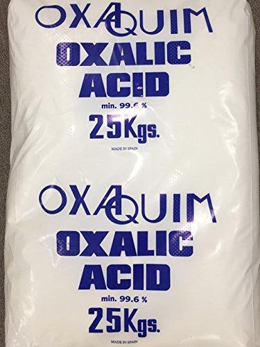 Oxalic Acid 99.6% Min. Purity 55lb Bag by OXAQUIM