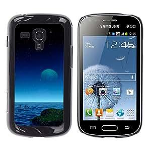 Piscina Profundo En La Oscuridad - Metal de aluminio y de plástico duro Caja del teléfono - Negro - Samsung Galaxy S Duos S7562