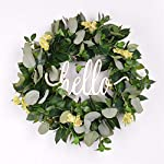 FAVOWREATH-2018-Vitality-Series-FAVO-W158-Handmade-16-inch-Hello-LetterGrassLaurelEucalyptus-LeafGrapevine-Wreath-for-Fall-Front-DoorWallFireplace-Floral-Hanger-Home-Every-Day-Decor
