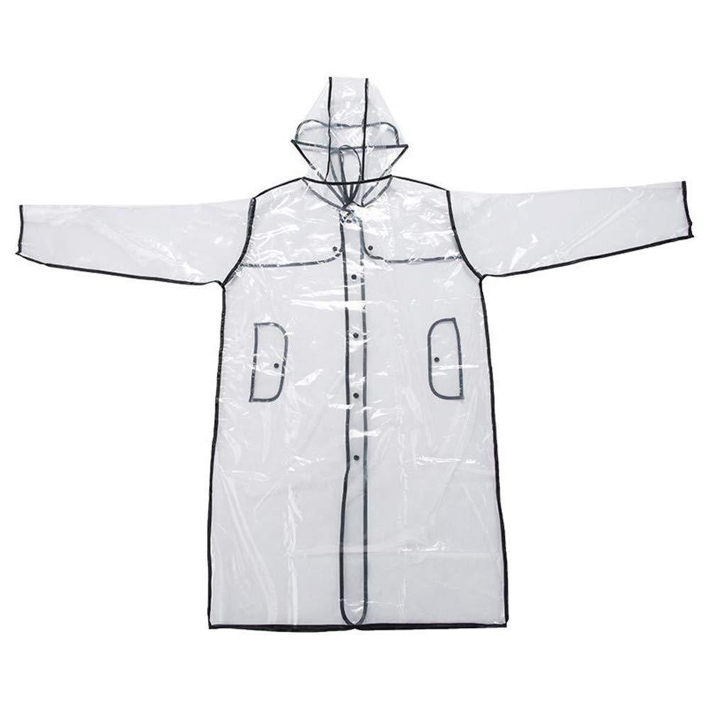 Yezijin Fashion Women Transparent EVA Raincoat Outdoor Travel Camping Waterproof Cover