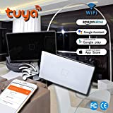 Smart WiFi Wall Switch NEW DESIGN Touch Screen Glass Panel Remote Control Lights Timer with smartphone, Compatible with Alexa Google Home 1 Gang/2 Gang/3 Gang, Black)