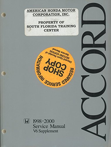 Accord 1998-2002 Service Manual -