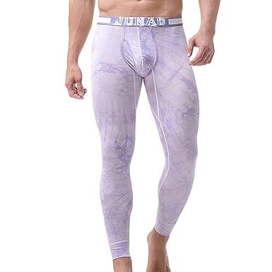 Yefree Pantalones de chándal de Cintura Baja de los Hombres ...
