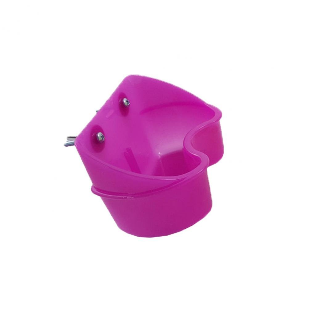 Steellwingsf Bird Feeding Bowl Food Water Fixable Cup Holder Parrot Pigeon Cage Feeder Tool (Orange)