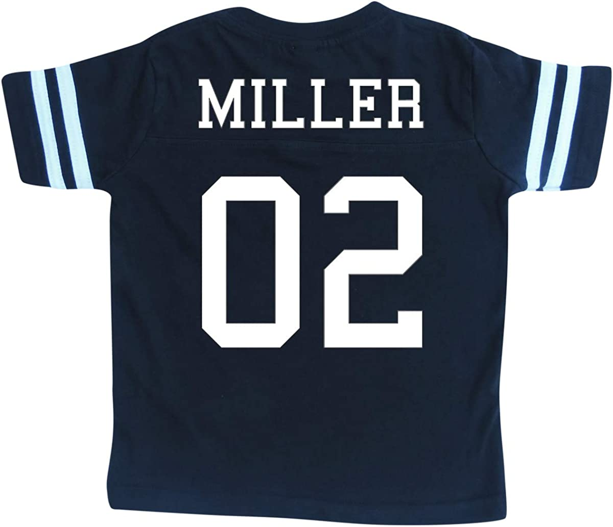 Custom Cotton Football Sport Jersey Toddler /& Child Personalized with Name and Number