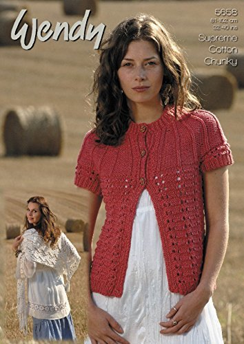Wendy Ladies Cardigan & Shawl Supreme Knitting Pattern 5658 Chunky by Wendy by Wendy