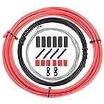 51e7yu7Rs8L. SS150 CTRICALVER - Cavi per cambio bici e kit di alloggiamento, universale, set di componenti di ricambio per bicicletta, MTB, mountain bike, riparazione (rosso