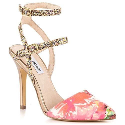 Steve Madden Porttt Canvas Heels, Floral Mul, Size 9.0