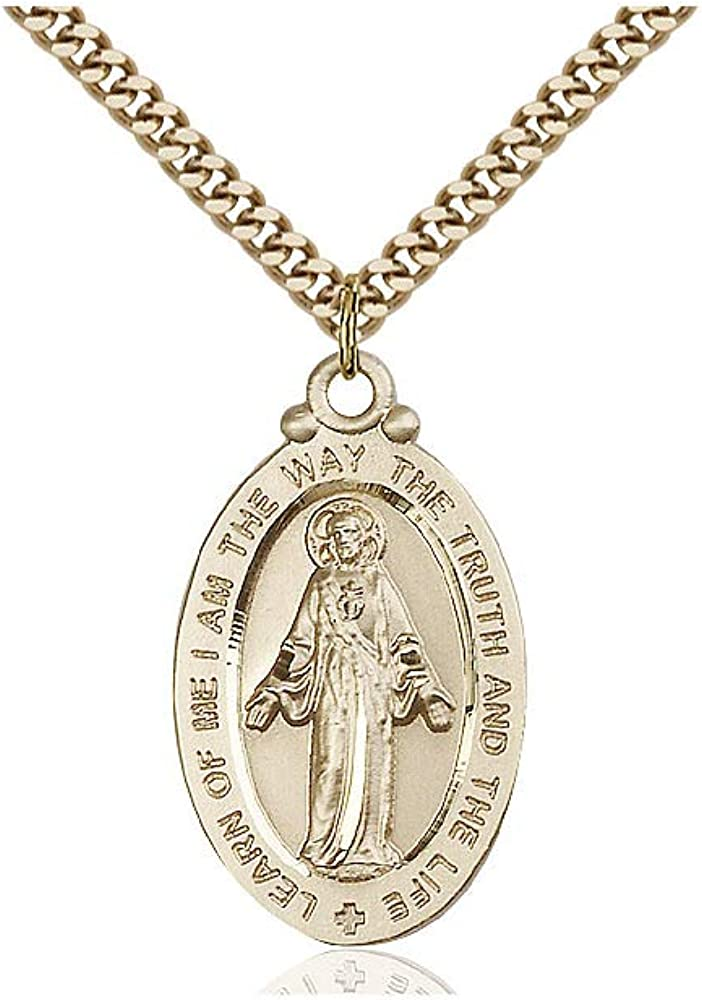 DiamondJewelryNY 14kt Gold Filled Scapular Medal