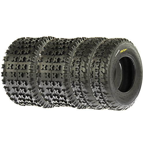 SunF Knobby Sport ATV Tires 21x7-10 & 20x11-9 4/6 PR A031 (Complete set of 4) by SunF (Image #1)