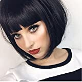 #8: Short Bob Wigs with Bangs 13