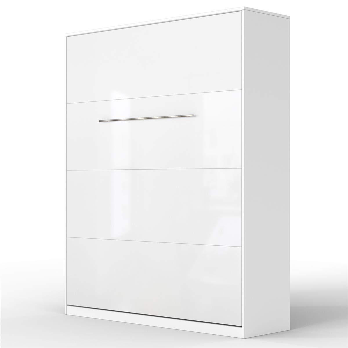 ventas calientes blancoo blancoo Brillante 160 x 200 200 200 cm verdeical Standard SMARTBett Standard Cama abatible Cama Plegable Cama de Parojo (Antracita blancoo Brillante, 90 x 200 cm verdeical)  entrega rápida