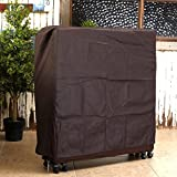 Hersent Dust Proof Non Woven Protective Cover Suit for 31.5'' 39'' 51'' Inch Rollaway Bed or Foldable Bed HZC78 (L, Coffee)