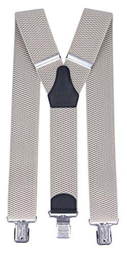 Ranger Hosenträger für Herren Y-förmige 5cm breit verstellbar und elastisch mit einem sehr starken Clips