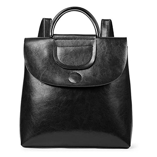 Women Bags Cowhide Cotton Backpack Zipper for Casual All Season Wine Brown Coffee Black,Coffee by YIUXB (Image #2)