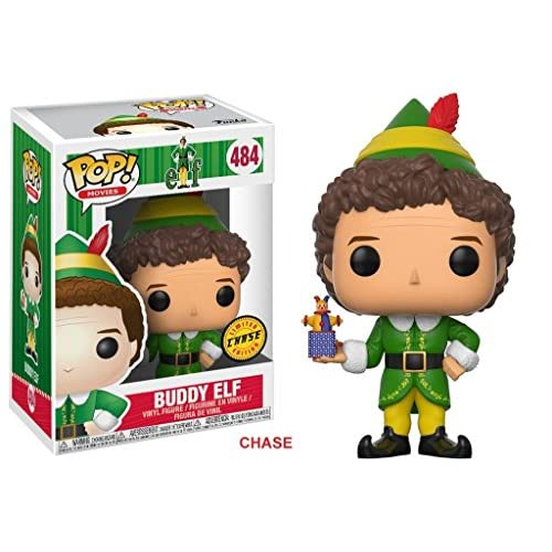 Funko Pop Elf Movie Buddy the Elf Chase Variant Vinyl Figure With Plastic Pop Protector