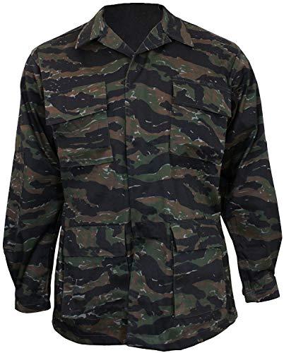 (Mil-Tec BDU Combat Shirt Tiger Stripe Size XXL)