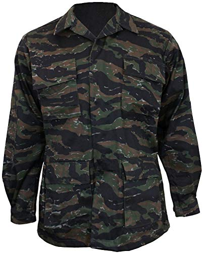 Mil-Tec BDU Combat Shirt Tiger Stripe Size - Bdu Tiger Stripe Shirt