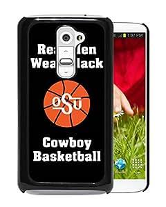 NCAA Oklahoma State Cowboys 12 Black Popular Custom Design LG G2 Phone Case