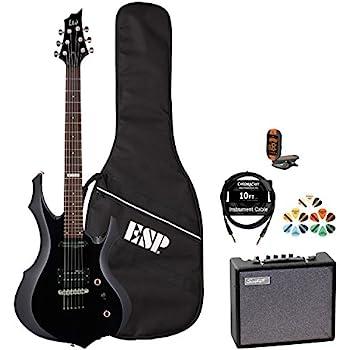 ESP 6 String Electric Guitar Pack, Right Handed (JB-F10KIT-BLK-KIT-5)