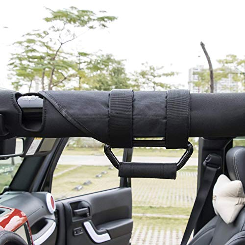 - Jeep Grab Handles, Heavy Duty Roll Bar Grab Handles, For Jeep Wrangler YJ TJ JK JK JL JLU Sports Sahara Freedom Rubicon X & Unlimited 1955-2018 (Pack of 4)