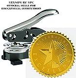 Embosser Bundle // Custom Embosser (Seal) & Premium Gold Foil Embossing Certificate Labels // Celebrating Excellence''; Impression: 1-5/8 [SPC2CS] // Employee/Student Recognition At Work/School