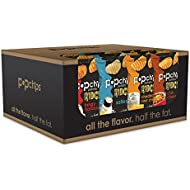 Popchips Ridged Potato Chips, Variety Pack, 24 Count (single serve 0.8 oz bags), 4 Flavors: Salt, BBQ, Cheddar & Sour Cream, Chili Cheese
