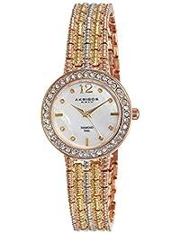 Akribos XXIV Women's AK757TRI Lady Multi-Tone Mother-of-Pearl Bracelet Watch