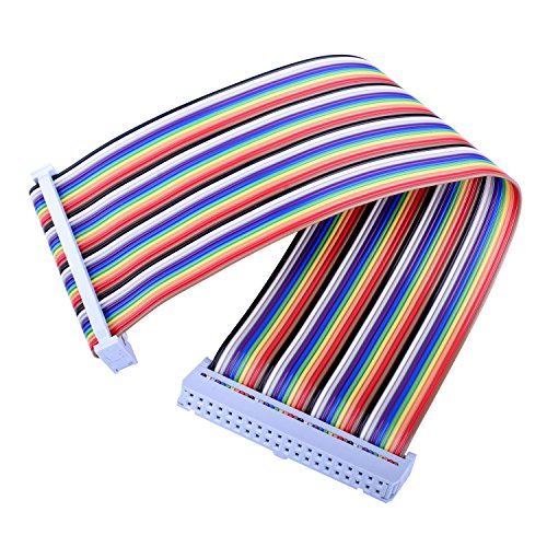 Ribbon Cable Breakout : Kuman rpi gpio breakout expansion board ribbon cable for