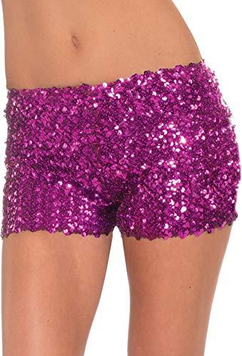 Buy forum novelties magenta sequin mini shorts