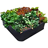 """EZ-GRO GARDEN 3 ft X 3 ft Raised Bed MED SQUARE AeroFlow Proprietary Fabric """"GROW YOUR OWN"""" No Assembly by Victory 8"""