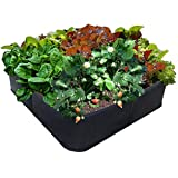 Victory 8 Garden EZ-GRO Garden Raised Bed AeroFlow Fabric Raised Pot Garden 3 x 3 Feet