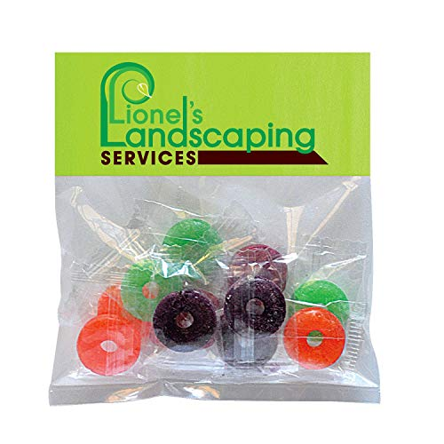 Candy Gift Pack-Life Savers with CUSTOMIZED Business Card Magnet in Small Header Pack- BULK Quantities-1000 per package