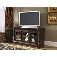North Shore W553-31 51 Medium TV Stand Including 4 Shelves with Hole(s) for Wiring and Molding Detail in Dark Brown