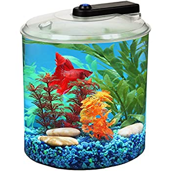 Koller products aquascene 1 5 gallon fish for Betta fish tanks amazon