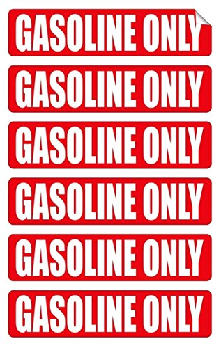 Crown Gas Mixer (6-Pcs Convincing Unique Gasoline Only Window Stickers Sign Safety Decor Oil Labels Macbook Laptop Patches Luggage Hoverboard Graphics Wall Art Vinyl Sticker Decals Size 3/4