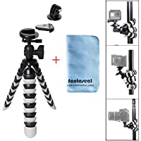 Fantaseal 3-in-1 DSLR Camera + Action Cam Mini Octopus Tripod Flexible Gorillapod for GoPro Sony Garmin Virb XE SJCAM Xiaomi Yi Tripod Table Desk Tripod Travel Portable Selfie Tripod Stand Holder