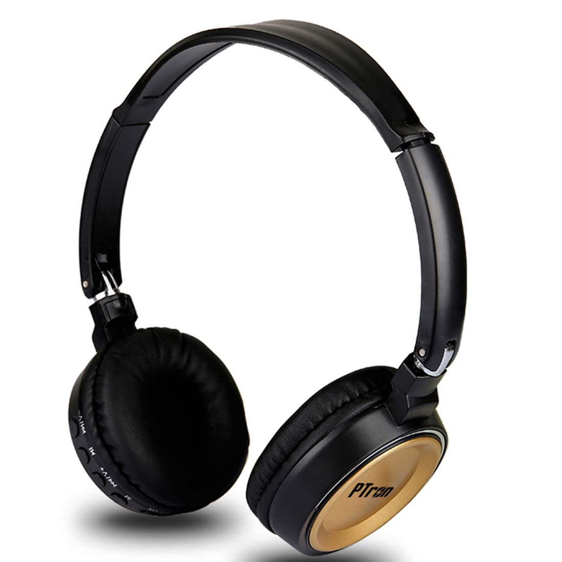 PTron Trips On-Ear Bluetooth Headphones (Gold)