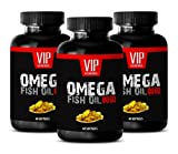 Natural brain support memory - OMEGA FISH OIL 8060 - Omega skin and mood - 3 Bottles 180 Softgels