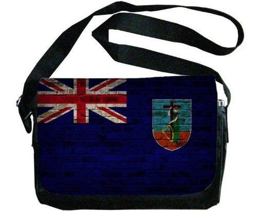 Montserrat Flag Brick Wall Design Messenger Bag