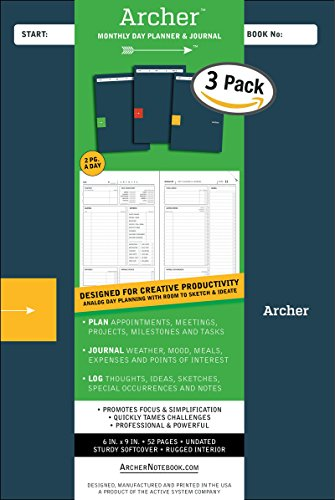 The D1 Archer Planner: Detailed and Different, 3-Pack price