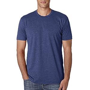 Next Level Apparel Men's CVC Crewneck Jersey T-Shirt, Storm, X-Large